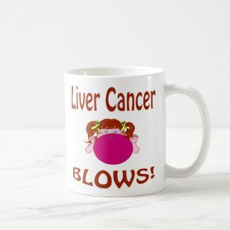 Taza del cáncer de hígado de los soplos