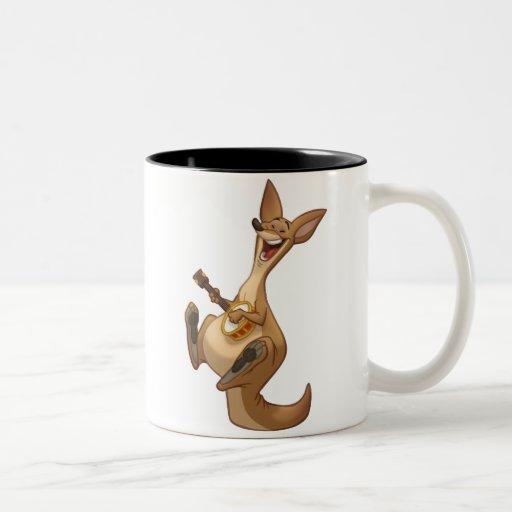 Taza del canguro del Banjo-Strummin'