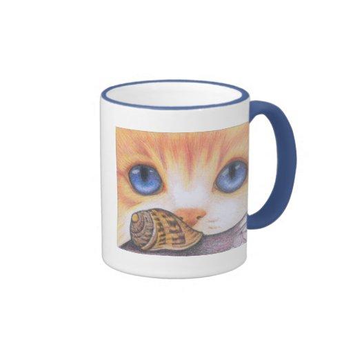 Taza del caracol y del gato