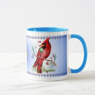 Taza del cardenal del navidad
