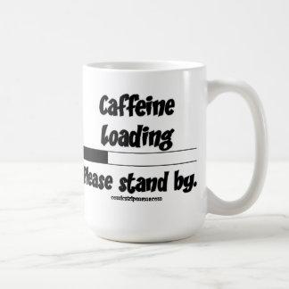 Taza del cargamento del cafeína