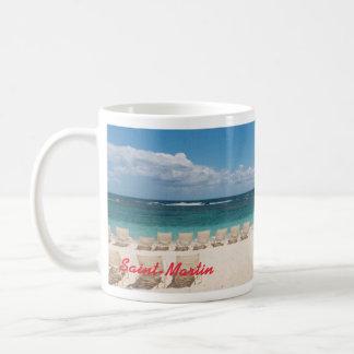 Taza del Caribe de la playa del St. Maarten