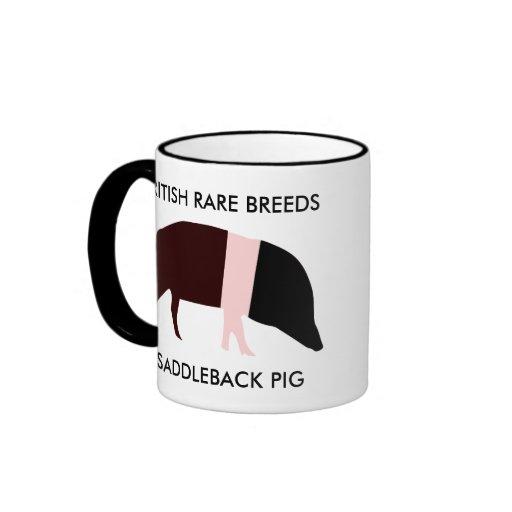 Taza del cerdo de la ensillada