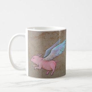 taza del cerdo del vuelo