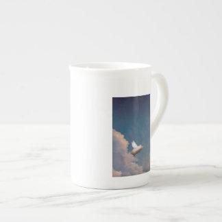 taza del cerdo del vuelo taza de porcelana