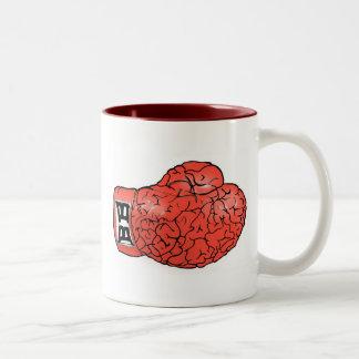 Taza del cerebro del boxeo (roja)