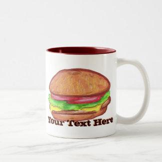 Taza del cheeseburger