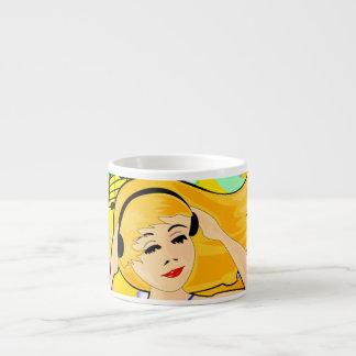 taza del chica de baile taza espresso