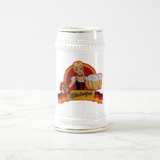 Taza del chica de Waitres de la cerveza de Oktober