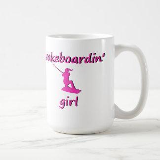Taza del chica de Wakeboardin