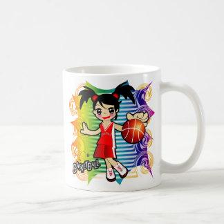 taza del chica del baloncesto