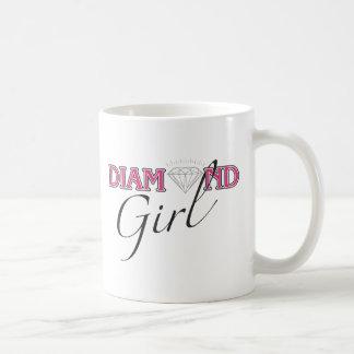 Taza del chica del diamante