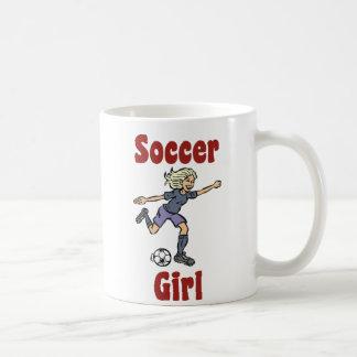 Taza del chica del fútbol