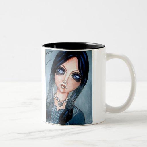 taza del chica del gótico