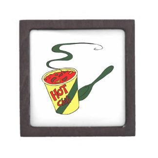 Taza del chile picante con el gráfico de la cuchar cajas de joyas de calidad