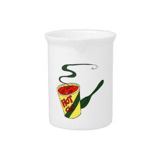 Taza del chile picante con el gráfico de la cuchar jarron