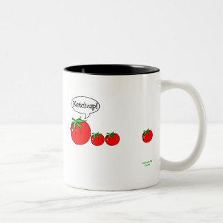 Taza del chiste de la salsa de tomate