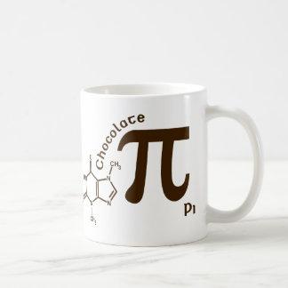 Taza del chocolate pi del día del pi
