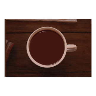 taza del chocolate póster