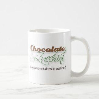 Taza del chocolate y del calabacín