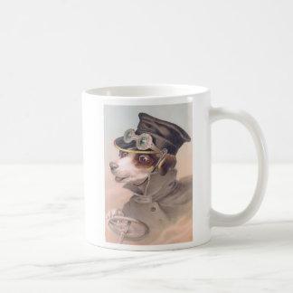 Taza del chófer del perro del vintage