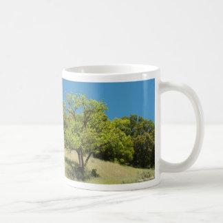 Taza del cielo de la colina del árbol