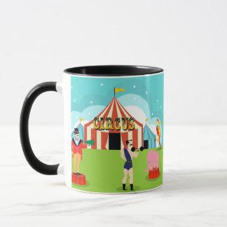Taza del circo del vintage