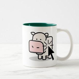 Taza del Clicker de la vaca