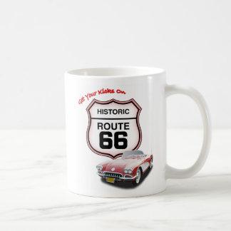 Taza del coche de la ruta 66