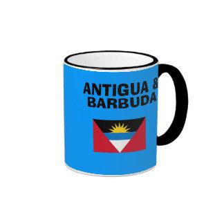 Taza del código de país de Antigua y de Barbuda -