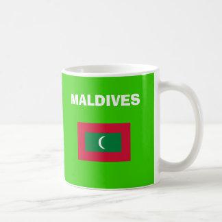 Taza del código de país del milivoltio Maldivas