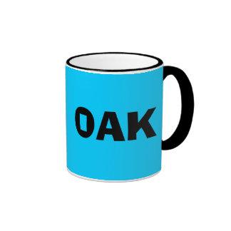 Taza del código del aeropuerto de Oakland del ROBL