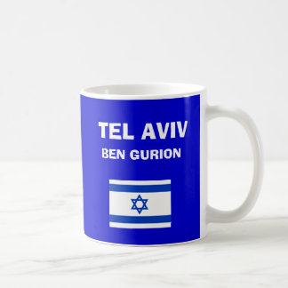 Taza del código del aeropuerto del TLV de Israel -
