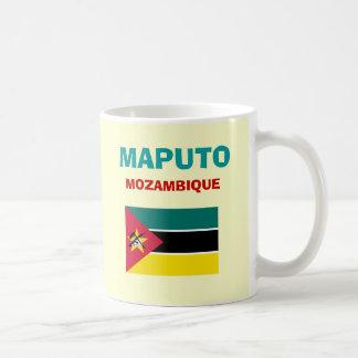 Taza del código del aeropuerto MPM de Mozambique -
