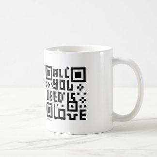Taza del código del diseñador QR: Todo lo que