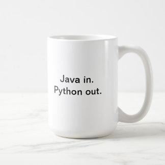 Taza del coffe del programador del pitón