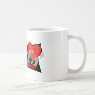 Taza del coffe del testimonio