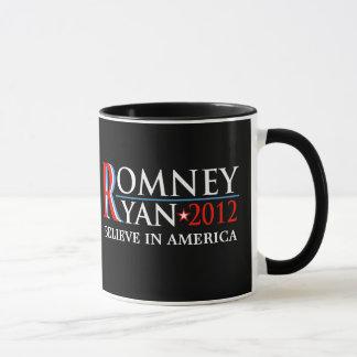 Taza del coleccionable de la campaña de Romney
