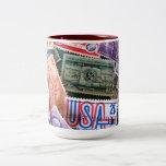 Taza del collage del sello de los E.E.U.U.