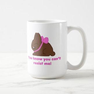 Taza del conejito del chocolate
