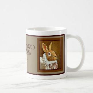 """Taza del conejo del Victorian """"amo mis conejos """""""