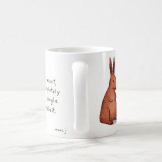 taza del conejo tubo-que fuma