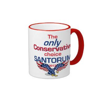 Taza del CONSERVADOR de Santorum