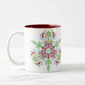 taza del copo de nieve del ~Floral~