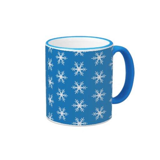 Taza del copo de nieve del invierno