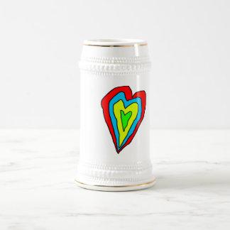 taza del corazón