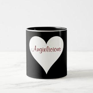 Taza del corazón de Angielicious