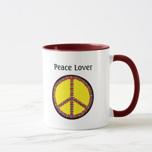 Taza del corazón de la paz