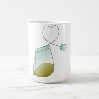 Taza del corazón del amante del té de la bolsita d