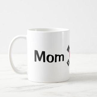 Taza del coreano de la mamá